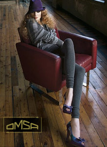 Omsa 3130 Evolution Pantacollant - cotton knitted footless tights with ruched scrunch cuff
