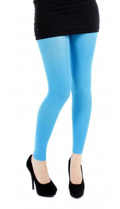 Pamela Mann 40 Denier Footless Tights in turquoise blue