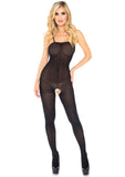 Leg Avenue 8208 Opaque Bodystocking - spaghetti strap body stocking