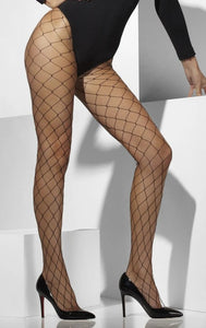 Fever FV42713 Diamond Net Tights - black wide fence fishnet tights