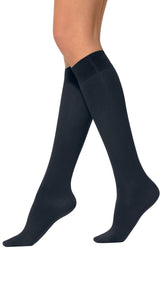 Omsa Micro Comfort 70 Gambaletto - 70 denier matte opaque knee-high socks in black, brown, navy, grey and aubergine