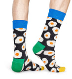 Happy Socks EGS01-9300 Sunny Side Up Sock - men's cotton ankle socks with fried egg pattern