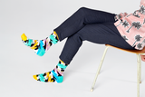 Happy Socks RRN01-0101 Rock N Roll Polka Stripe - men's sparkly zig-zag socks