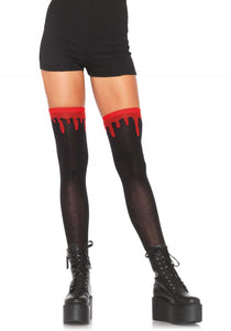 Leg Avenue 6909 Dripping Blood Over The Knee Socks - Halloween