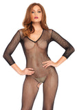 Leg Avenue 8378 V-Neck Fishnet Bodystocking