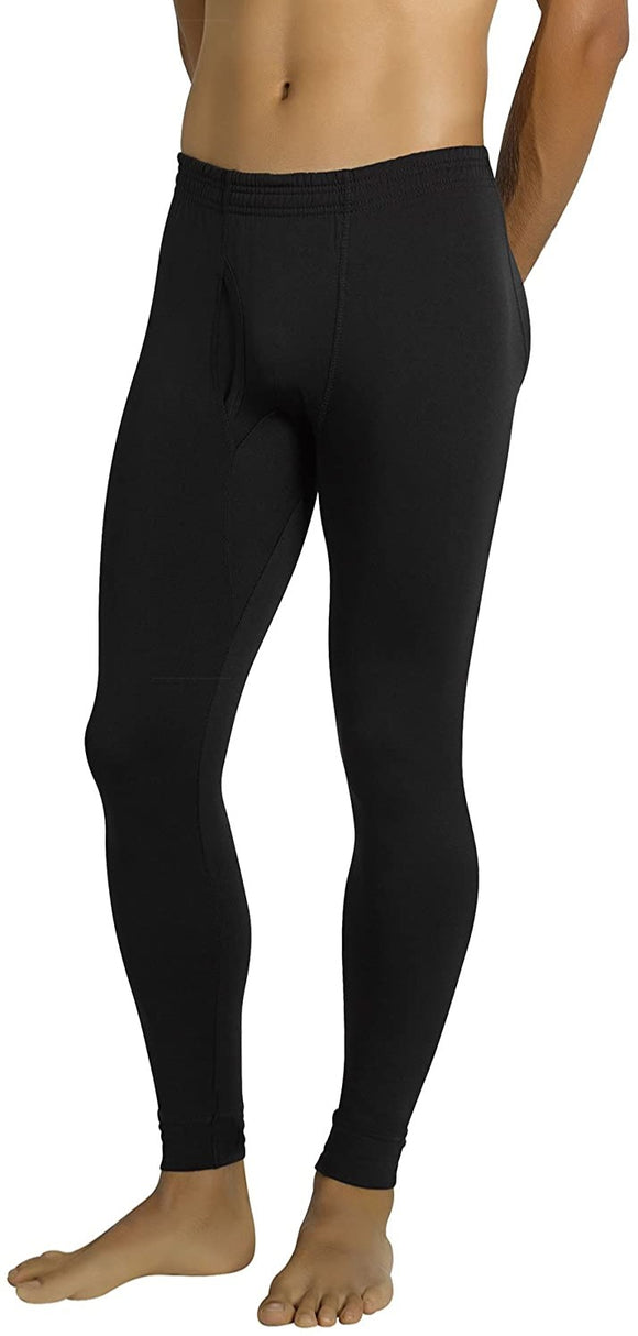 Ysabel Mora 70200 Thermal Long Johns - black fleece lined warm thermal leggings for men