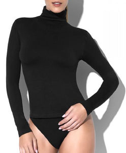 Omero Dolcevita - turtle neck / polo neck top, available in black and white