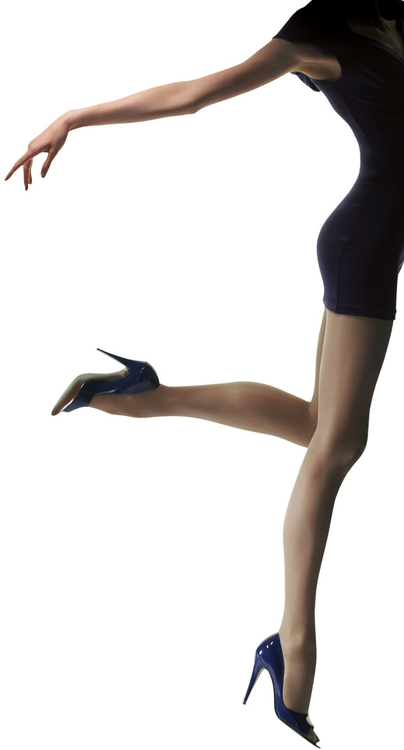 Omsa Attiva 40 light support tights, gradual compression, helps conceal cellulite, good for flights and being on your feet all day.