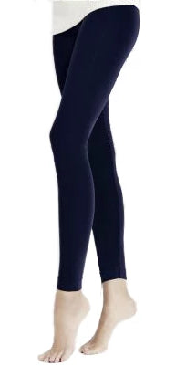 Omero Classic Treggings Microfibre - soft matte opaque stretch leggings in dark navy and grey