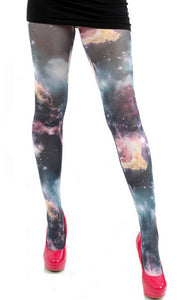 Pamela Mann Galactic Tights - multicoloured galaxy print tights