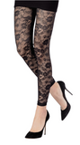 Emilio Cavallini 2002.90.8 Floreal Lace Leggings - black floral lace footless tights