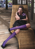 Omsa Couture Gambaletto - floral patterned knee-high fashion socks with a contrast floral cuff