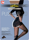 Omsa 1033 Push-Up 20 Collant - sheer control-top shaping tights in black and tan