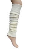 Trasparenze Piave Scaldamuscolo - cream warm and soft long chunky rib knitted legwarmer/sleever with elasticated cuff