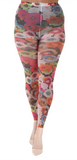 Pamela Mann Poppy Printed Footless Tights - White opaque footless tights with an all over multicoloured floral print pattern.