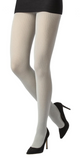 Emilio Cavallini Ribbed Viscose/Cashmere Tights - soft and warm thermal Winter knitted tights in light grey