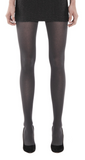 Emilio Cavallini Ribbed Viscose/Cashmere Tights - soft and warm thermal Winter knitted tights in dark grey