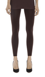 Emilio Cavallini Super Opaque Leggings - 200 denier matte footless tights in aubergine/eggplant