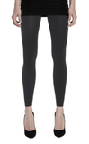 Emilio Cavallini Super Opaque Leggings - 200 denier matte footless tights in dark grey