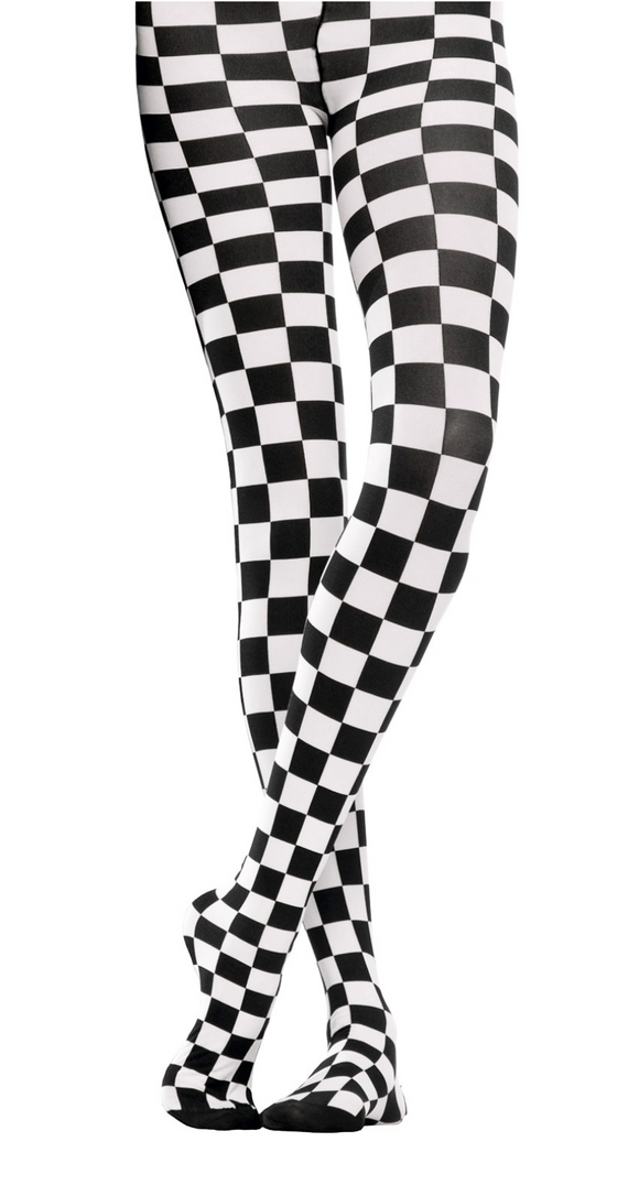 Emilio Cavallini Two Toned Chess Tights - black and white checkered tights