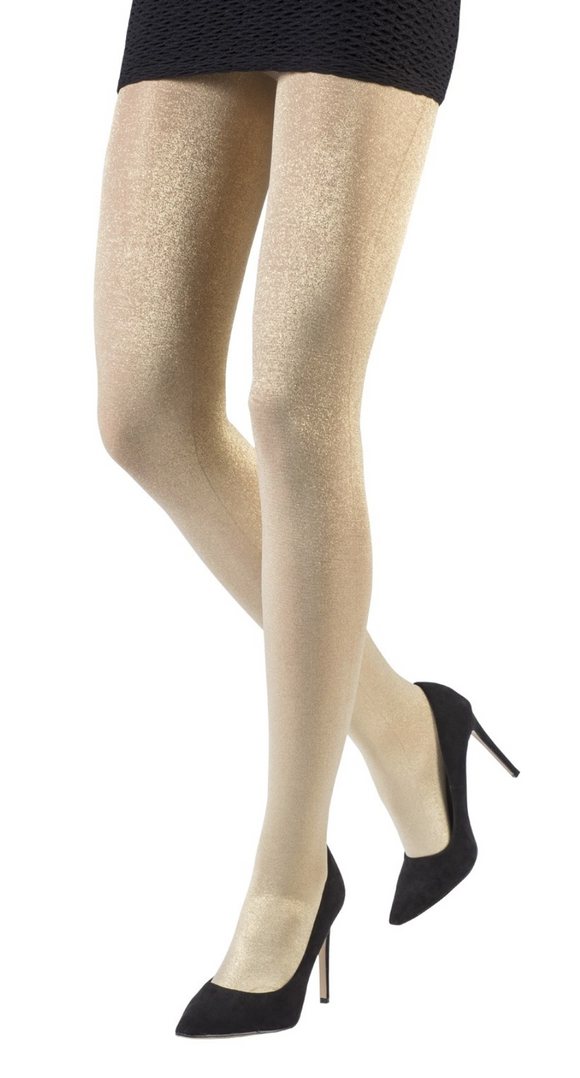 Emilio Cavallini 1130.1.6 Metalic Gold Tights - gold lame lurex sparkly glitter tights