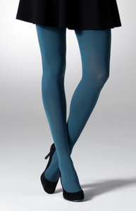 Gipsy 1172 100 Denier Opaque Tights - teal blue ultra opaque tights