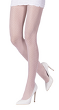 Emilio Cavallini 5619.1.88 All Over Dot Tights - light baby pink micro mesh fashion tights with polka dot spot pattern