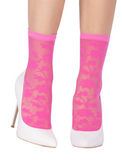 Emilio Cavallini 5D96.5.8 Fiordaliso Socks - pink floral lace fashion ankle socks