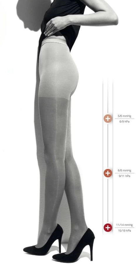 Ibici Segreta 70 - Medium strength compression support tights, ideal for varicose veins and long haul flights