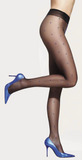 Trasparenze Anguria Collant - sheer black tights with blue all over polka dot spot pattern