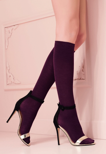 Trasparenze Alison Gambaletto - merino wool knee-high sock, perfect warm thermal sock for the Winter