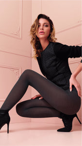 Trasparenze Alison Collant - dark grey merino wool tights, perfect thermal hosiery for cold Winters