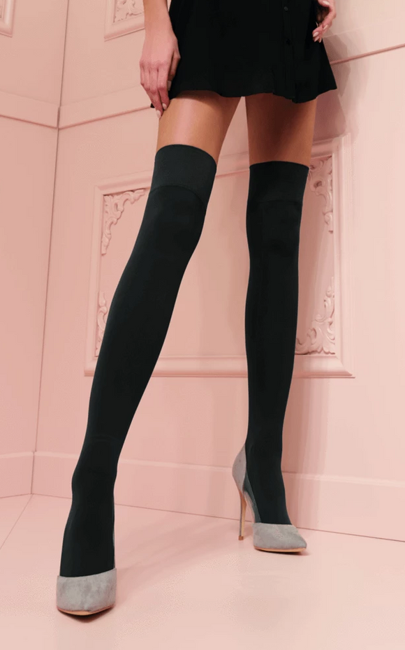 Trasparenze Caballero - plain opaque over the knee / thigh high socks in black and navy