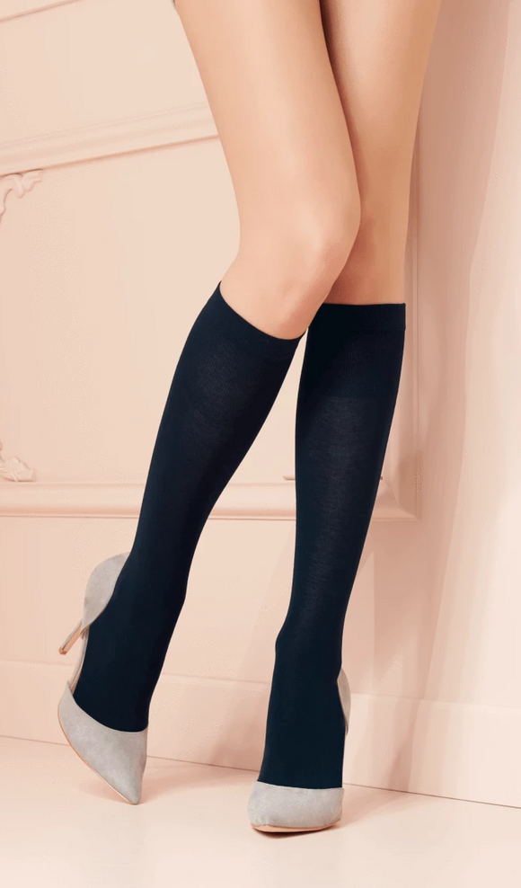 Trasparenze Jennifer Gambaletto - merino wool knee-high sock, perfect warm thermal sock for the Winter
