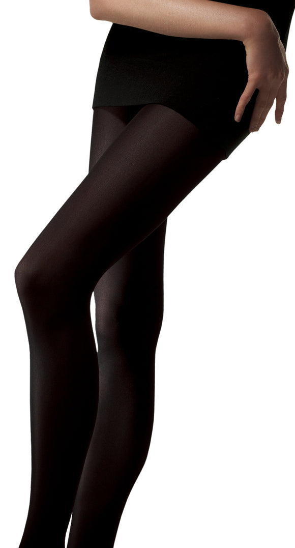 Omsa Velour 120 Collant - Ultra opaque matte tights in soft microfibre, available in black and grey