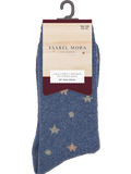 Ysabel Mora 12671 Starry Angora Socks - warm and wooly thermal socks with stars pattern