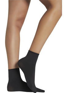 Ysabel Mora - 18124 Tobillero Sin Puno - 70 denier matte opaque no cuff ankle socks, in beige, black and navy.