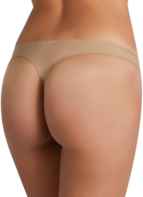 Ysabel Mora - 19634 Tanga Confort - plain low rise mirofibre thong in black and nude