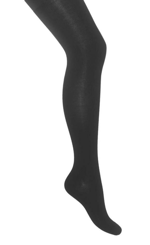 Bonnie Doon Cotton Tights - black knitted Winter thermal warm tights
