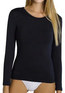 Ysabel Mora - 70002 Black Thermal Fleece Lined Top