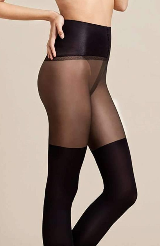 Fiore Fit Spinner Tights - high waisted faux over the knee tights