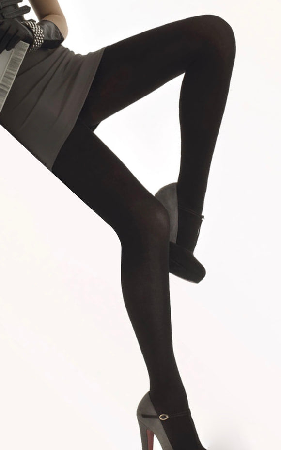 Omsa Cotton & Cashmere Tights - warm knitted winter tights