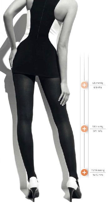 Ibici Segreta Young 70 - 70 denier matte opaque medium strength compression support tights, ideal for varicose veins and long haul flights. Available in black, grey and navy