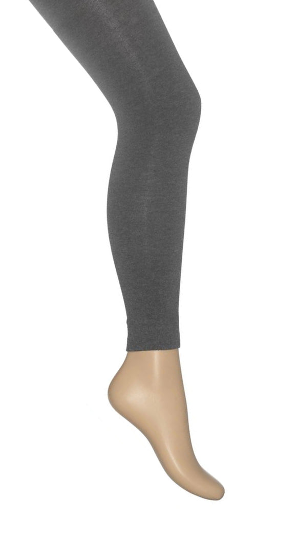 Bonnie Doon Cotton Footless Tights BE231802 - grey warm knitted footless tights perfect thermal wear for cold Winter weather