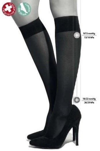 Ibici 00063 Segreta 140 Gambaletto - compression knee-high socks in tan and black