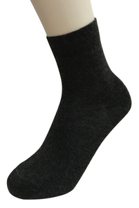 Omero Cashmere Calzino - dark grey soft and warm thermal ankle socks