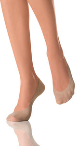 Omsa Feetcare Salvapiede Cotton Ballerina - light cotton shoe liners / invisible socks in nude, from size 35 to 41