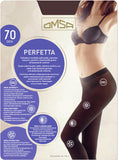 Omsa Perfetta 70 - black soft matte opaque seamless tights