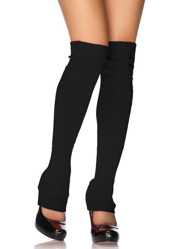 Leg Avenue 3913 Leg Warmers - black long over the knee legwarmers