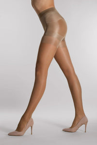 Osí© - Pin-up 30 Collant - semi-sheer control-top slimming tights in black and tan